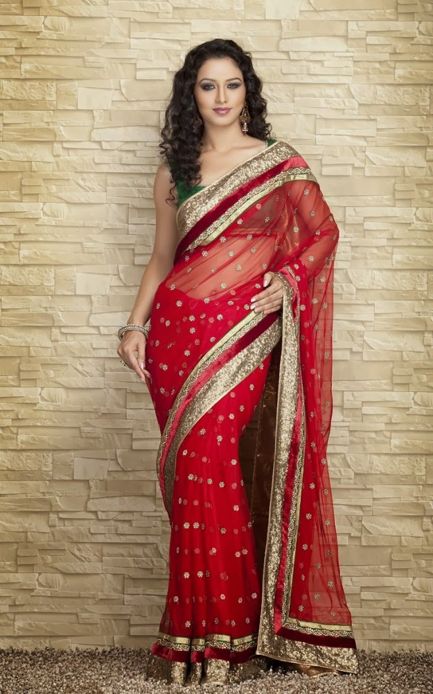 Indian-Designers-Beautiful-Bridal-Wedding-Saree-dress-Design-New-Fashionable-Sari-for-Girls-Women-13