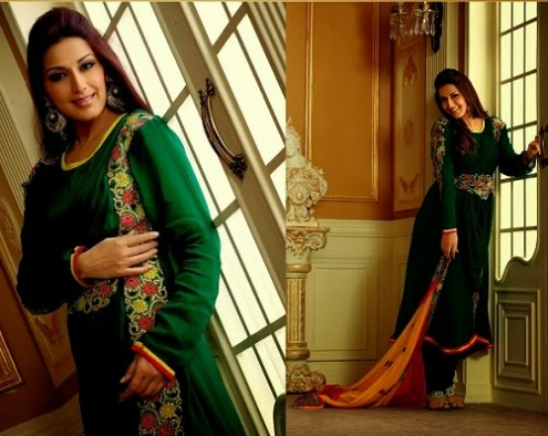Sonali Bendre In Bollywood Anarkali Suits (1)