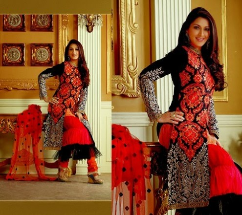 Sonali Bendre In Bollywood Anarkali Suits (5)