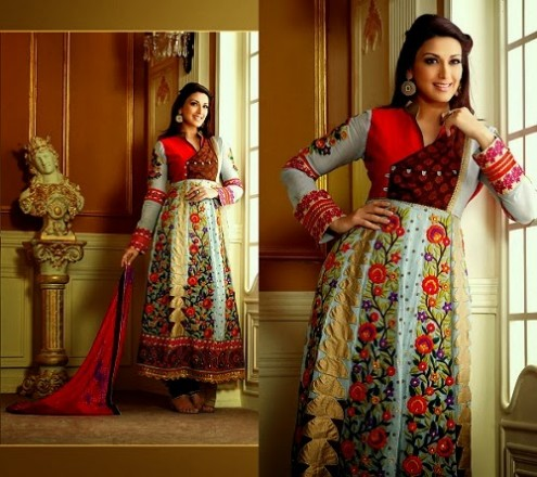 Sonali Bendre In Bollywood Anarkali Suits (9)