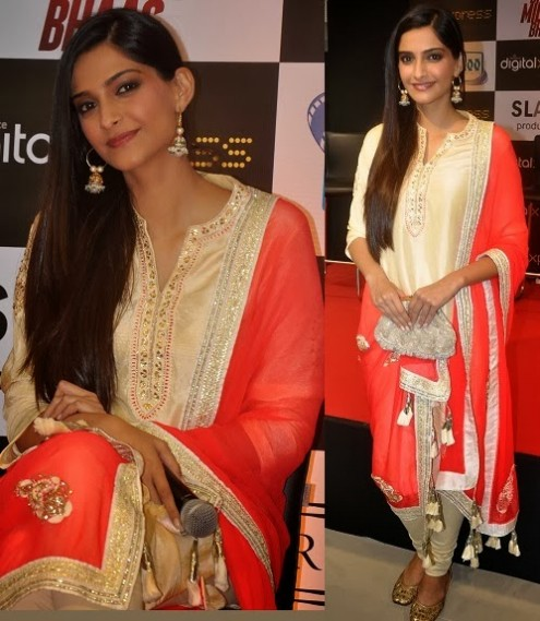Sonam Kapoor in Designer Wear Wedding-Bridal Suits 2013-14-1