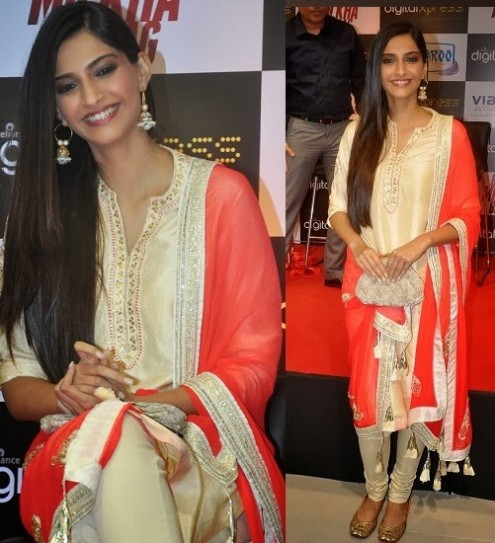 Sonam Kapoor in Designer Wear Wedding-Bridal Suits 2013-14-2