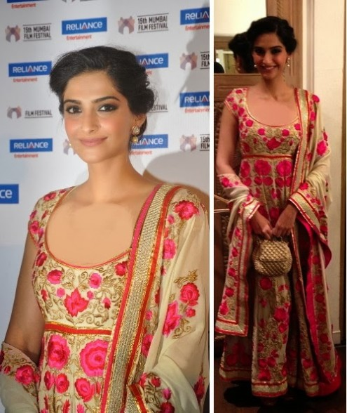 Sonam Kapoor in Designer Wear Wedding-Bridal Suits 2013-14-