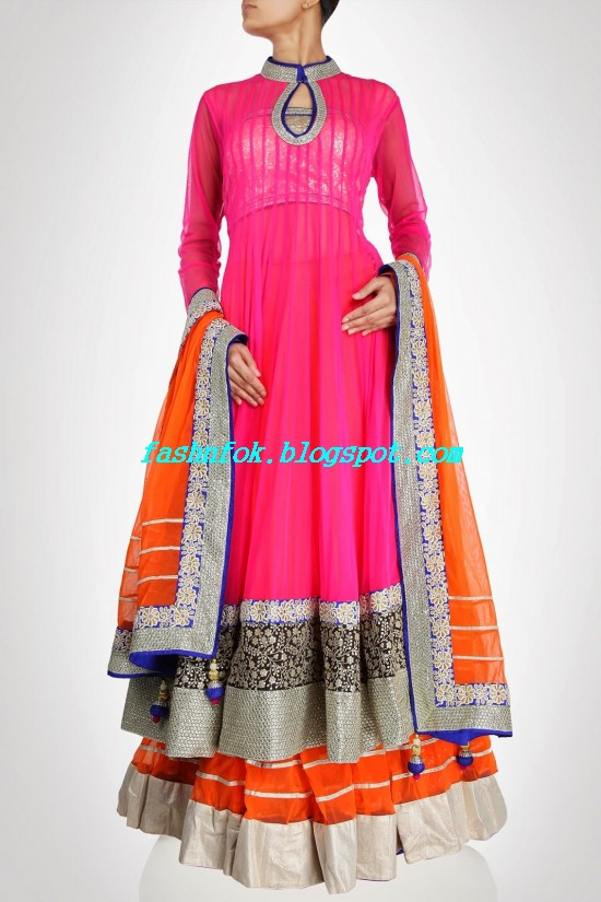 Anarkali-Bridal-Wedding-Lehenga-New-Fashion-Outfits-by-Kiran-&-Shruti-Aksh-0