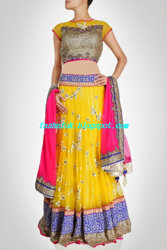 Anarkali-Bridal-Wedding-Lehenga-New-Fashion-Outfits-by-Kiran-&-Shruti-Aksh-3