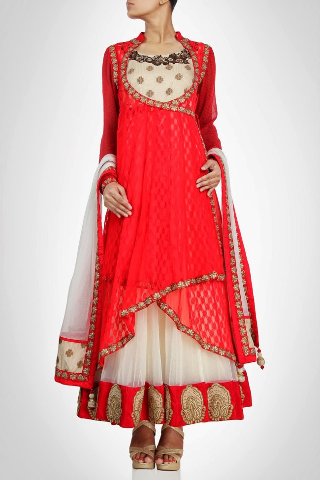 Anarkali-Gorgeous-Bridal- Wedding-Ankle-Length-Dress-by-Designer-Kiran-&-Shruti-Aksh-1