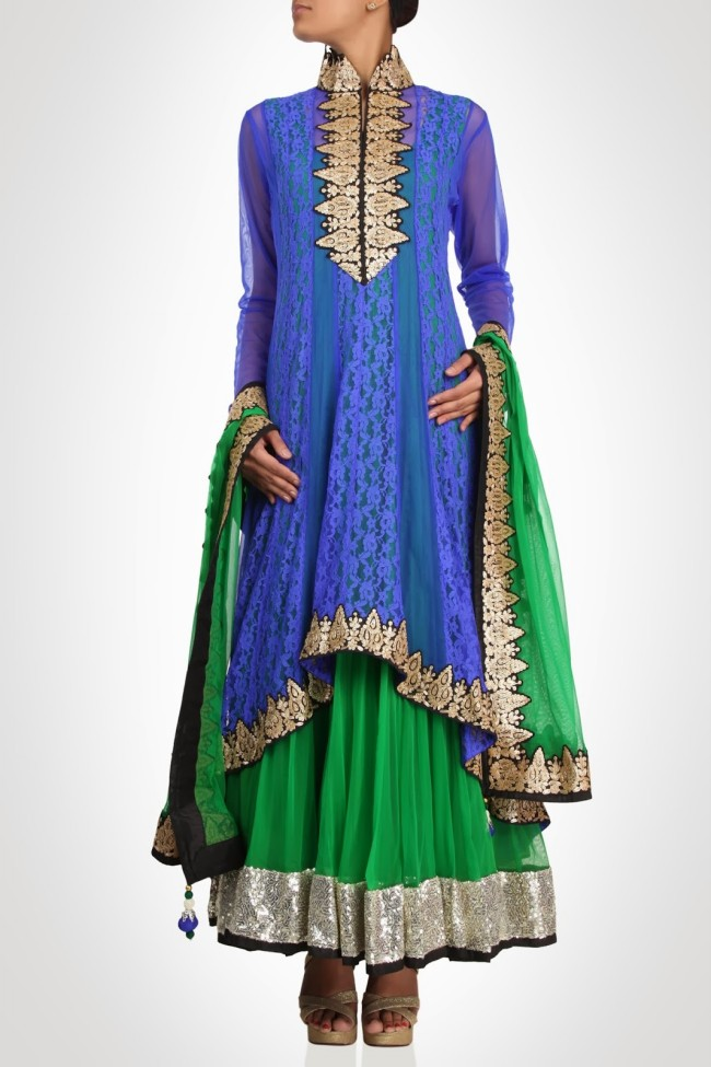 Anarkali-Gorgeous-Bridal- Wedding-Ankle-Length-Dress-by-Designer-Kiran-&-Shruti-Aksh-10