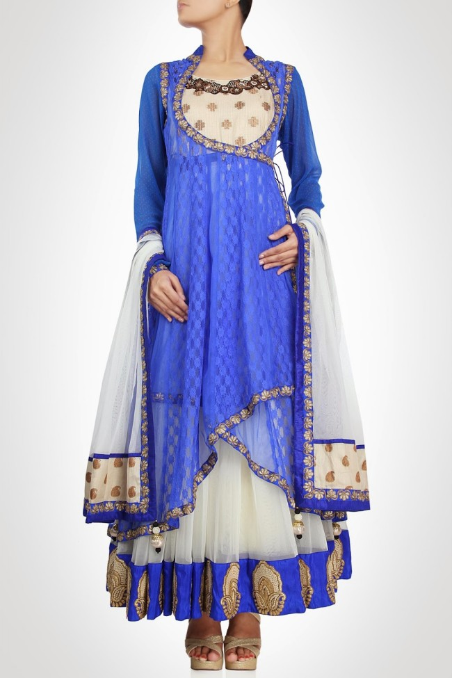 Anarkali-Gorgeous-Bridal- Wedding-Ankle-Length-Dress-by-Designer-Kiran-&-Shruti-Aksh-13
