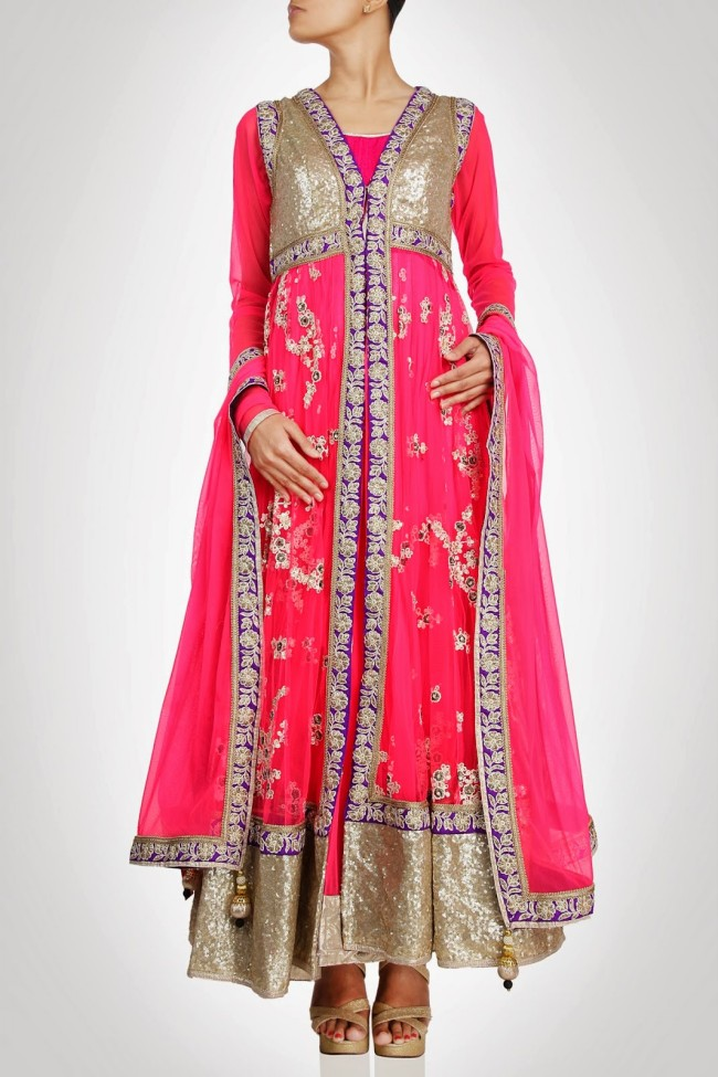 Anarkali-Gorgeous-Bridal- Wedding-Ankle-Length-Dress-by-Designer-Kiran-&-Shruti-Aksh-2