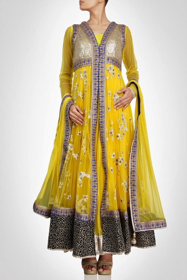 Anarkali-Gorgeous-Bridal- Wedding-Ankle-Length-Dress-by-Designer-Kiran-&-Shruti-Aksh-4