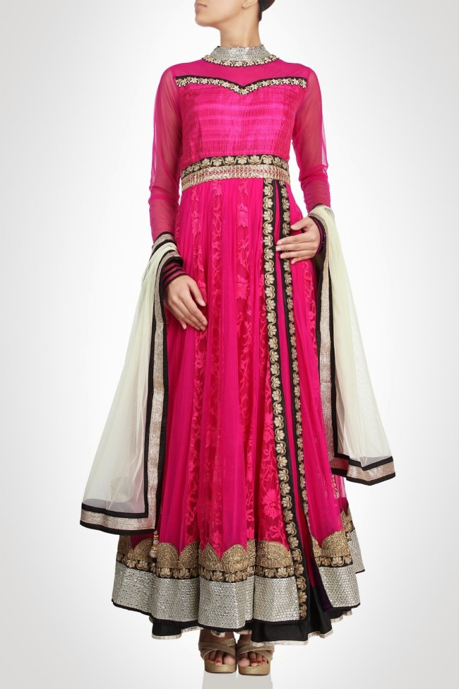 Anarkali-Gorgeous-Bridal- Wedding-Ankle-Length-Dress-by-Designer-Kiran-&-Shruti-Aksh-5
