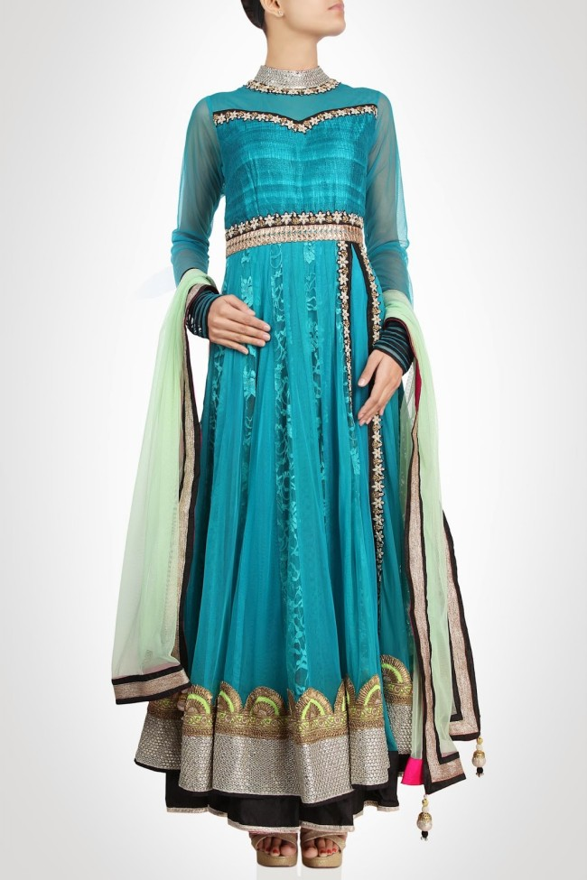 Anarkali-Gorgeous-Bridal- Wedding-Ankle-Length-Dress-by-Designer-Kiran-&-Shruti-Aksh-6