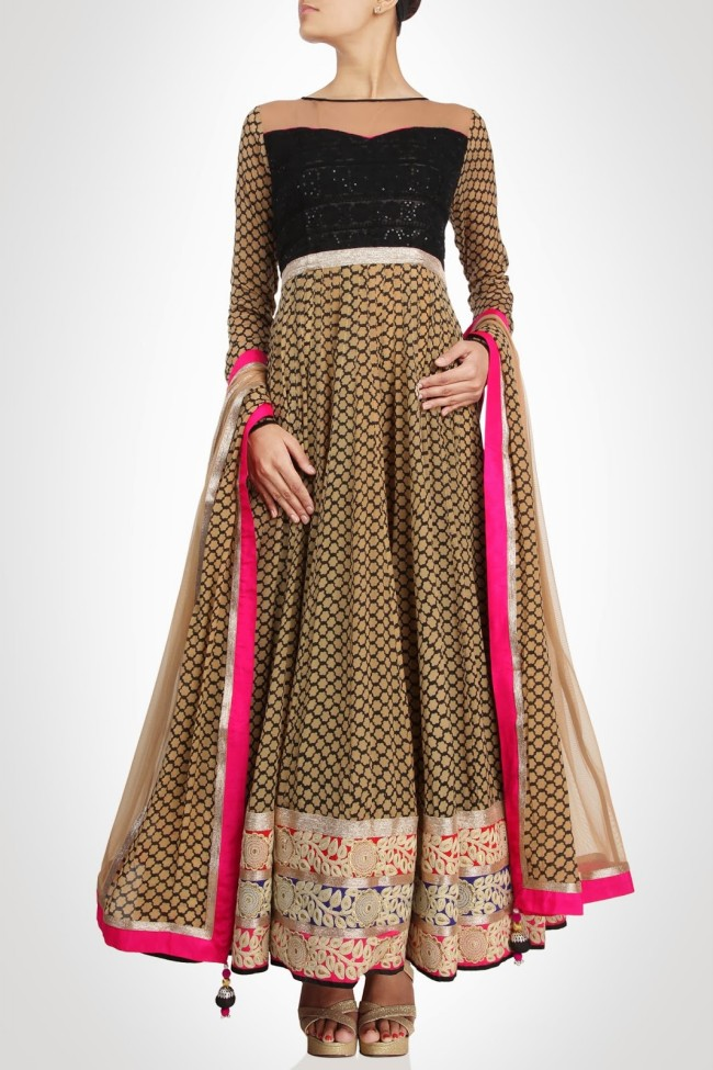 Anarkali-Gorgeous-Bridal- Wedding-Ankle-Length-Dress-by-Designer-Kiran-&-Shruti-Aksh-7