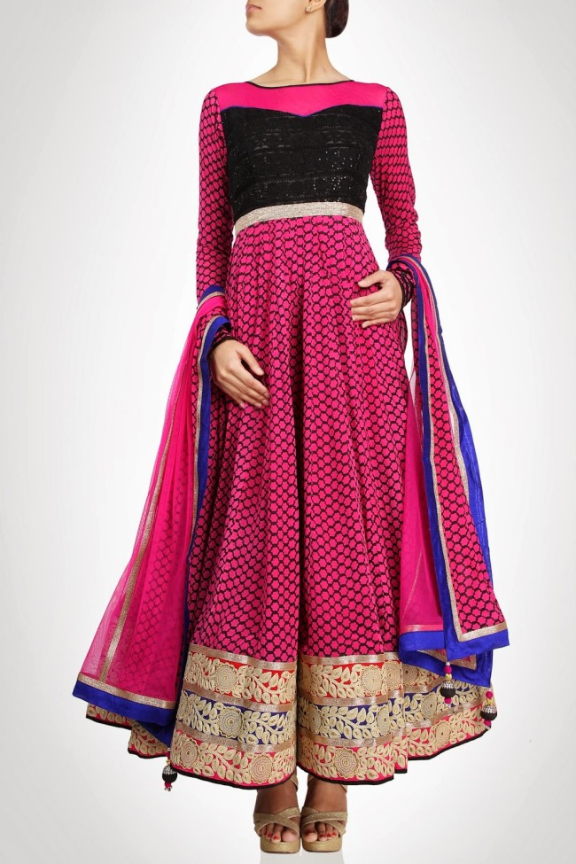 Anarkali-Gorgeous-Bridal- Wedding-Ankle-Length-Dress-by-Designer-Kiran-&-Shruti-Aksh-8