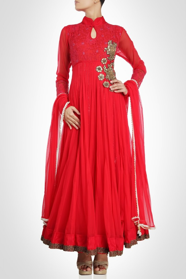 Anarkali-Gorgeous-Bridal- Wedding-Ankle-Length-Dress-by-Designer-Kiran-&-Shruti-Aksh-
