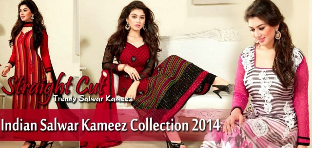 Beautiful-Girls-Wear-Indian-Salwar-Kameez-New-Fashion-Outfits-Dress-by-Straight-Cut-Trendy-Clothes-