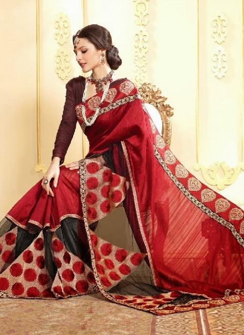 Christmas Cute Saree Saree S For Holiday Season Red