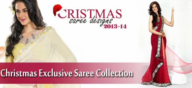 Beautiful-Girls-Women-Wear-Christmas-Exclusive-Saree-Dress-New-Fashion-Red-Suits-Design-