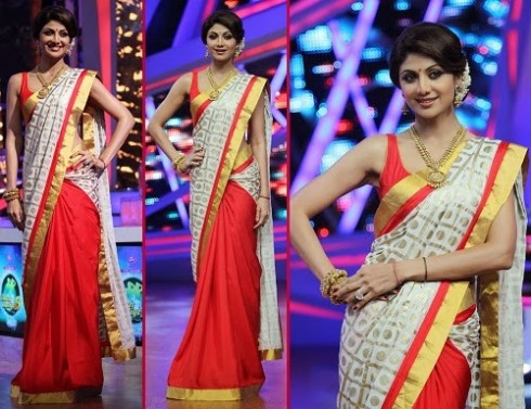 Bollywood-Indian Movies Actresses Celebrities Stars Wear Beautiful Designers Saree-Sari-11
