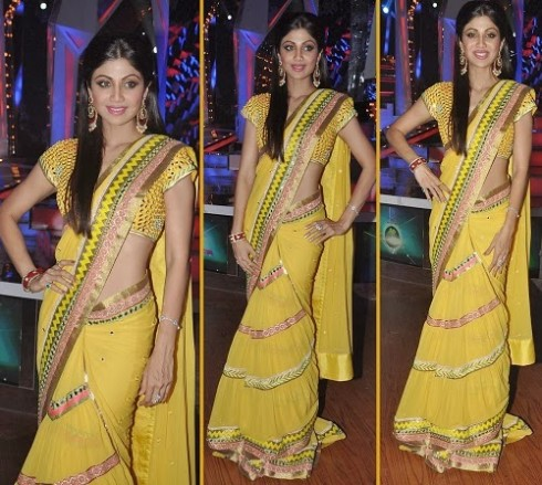 Bollywood-Indian Movies Actresses Celebrities Stars Wear Beautiful Designers Saree-Sari-12