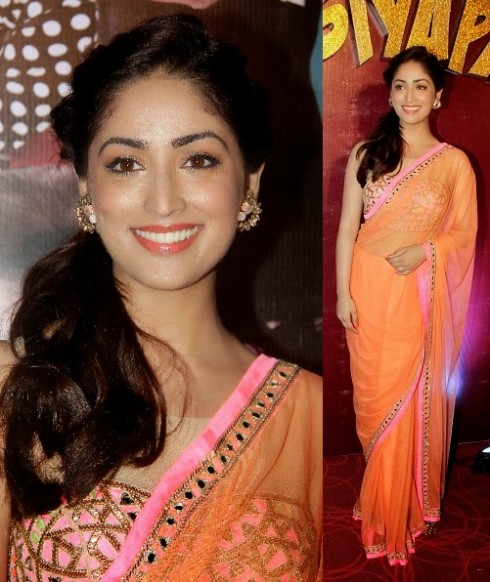 Bollywood-Indian Movies Actresses Celebrities Stars Wear Beautiful Designers Saree-Sari-13