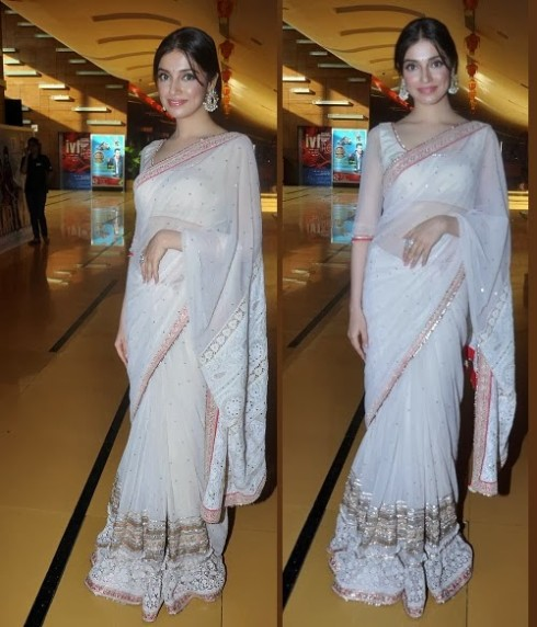 Bollywood-Indian Movies Actresses Celebrities Stars Wear Beautiful Designers Saree-Sari-14