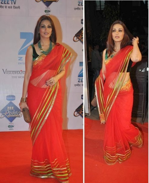 Bollywood-Indian Movies Actresses Celebrities Stars Wear Beautiful Designers Saree-Sari-16