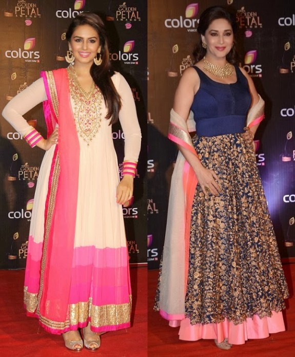 Bridal-Wedding-Wear-New-Fashion-Suit-Styles-at-Madhuri-Colors-Tv-3rd-Golden-Petal-Award-2
