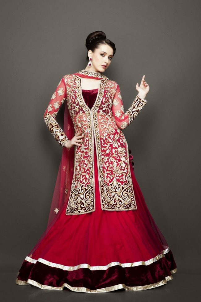 Designer Wedding Lenghas for Indian Girls 9