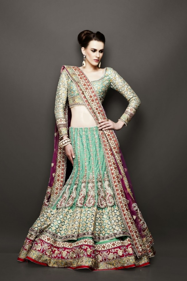 Bridesmaid-Brides-Wedding -Bridal-Gown-Lehenga-Dresses-New-Fashion-Outfits-3