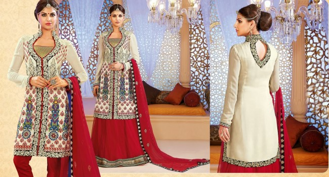Ready Made Long Fancy Anarkali Churidar Shalwar Kameez
