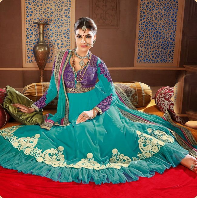 Ready Made Long Fancy Anarkali Churidar Shalwar Kameez