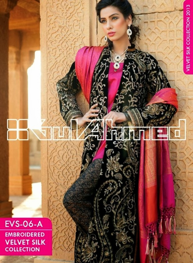 Mens-Women-Wear-Beautiful-Embroidered-Silk-Velvet-Long-Coats-by-Gul-Ahmed-New-Fashion-11