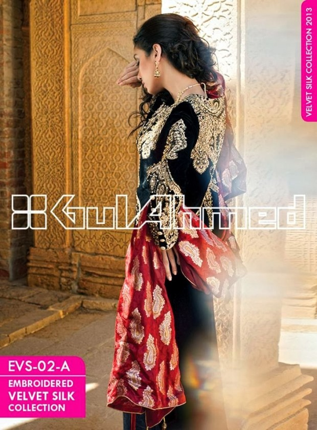 Mens-Women-Wear-Beautiful-Embroidered-Silk-Velvet-Long-Coats-by-Gul-Ahmed-New-Fashion-6