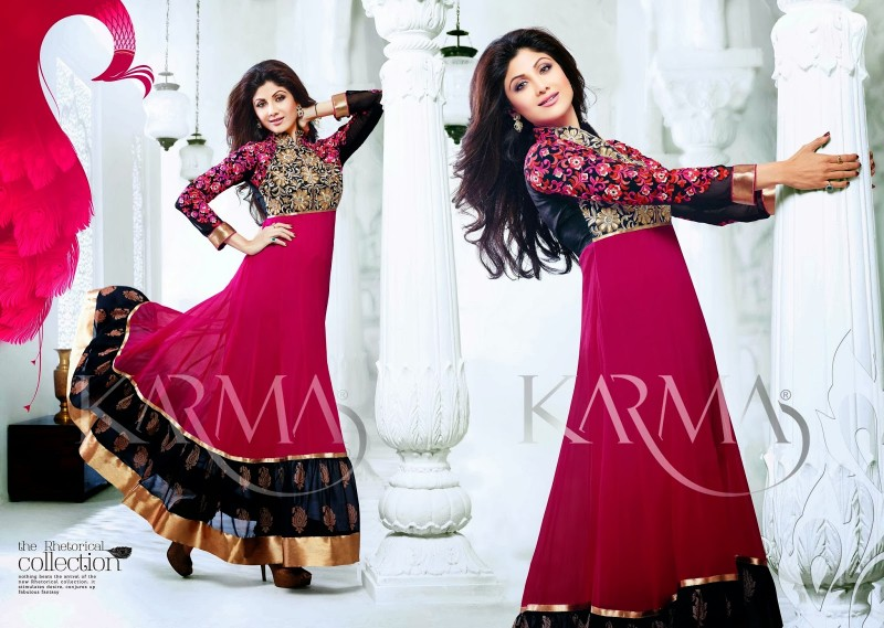 Shilpa-Shetty-Bollywood-Indian-Wear-Ankle-Length-Fancy-Anarkali-Frock-New-Fashion-Dress-2