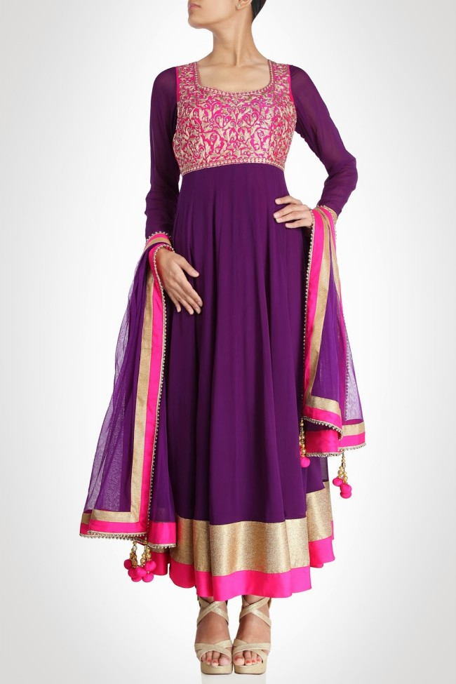 Girls-Women-Wear-Beautiful-Anarkali-Churidar-Gotazari-Frock-New-Fashion-Outfits-2