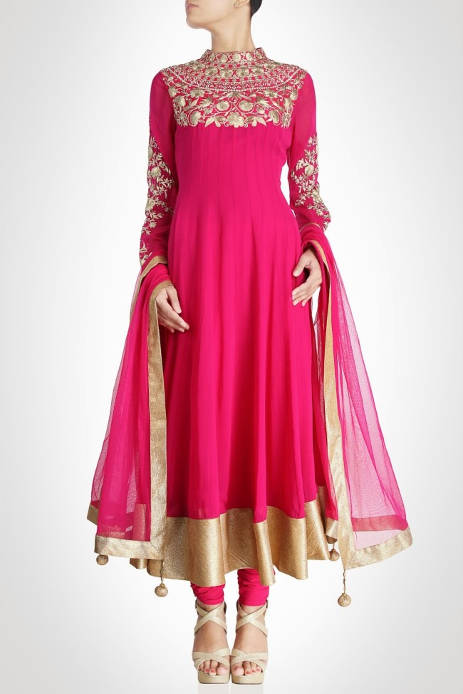 Girls-Women-Wear-Beautiful-Anarkali-Churidar-Gotazari-Frock-New-Fashion-Outfits-5