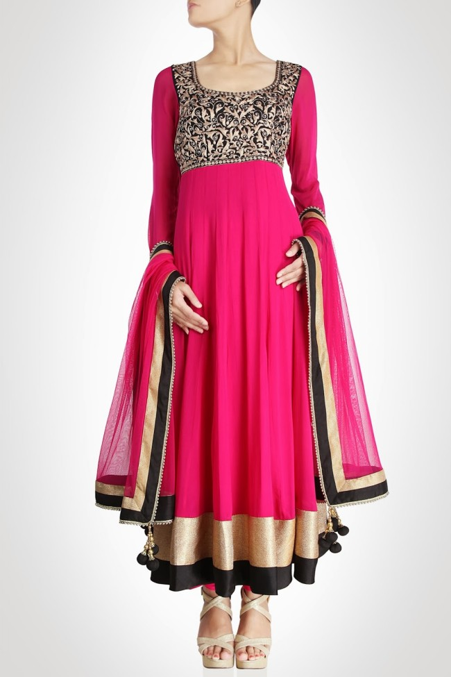 Girls-Women-Wear-Beautiful-Anarkali-Churidar-Gotazari-Frock-New-Fashion-Outfits-
