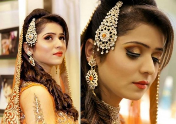 Exclusive Pakistani Indian Hairstyle 2014 For Bridal Wedding
