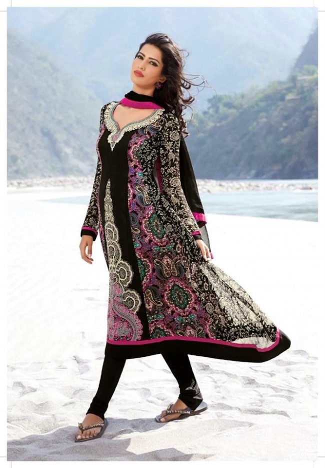 Womens-Girl-New-Fashion-Designer-Salwar-Kameez-Suits-Embroidered-Long-Shirt-Designs-Dress-9