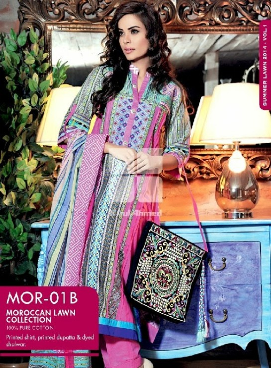 Girls-Wear-Summer-Dress-Chunri-Prints-Block-Prints-Embroidered-Single-Lawn-New-Fashion-Suits-by-Gul-Ahmed-1