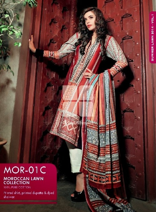 Girls-Wear-Summer-Dress-Chunri-Prints-Block-Prints-Embroidered-Single-Lawn-New-Fashion-Suits-by-Gul-Ahmed-2
