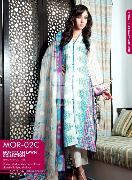 Girls-Wear-Summer-Dress-Chunri-Prints-Block-Prints-Embroidered-Single-Lawn-New-Fashion-Suits-by-Gul-Ahmed-4