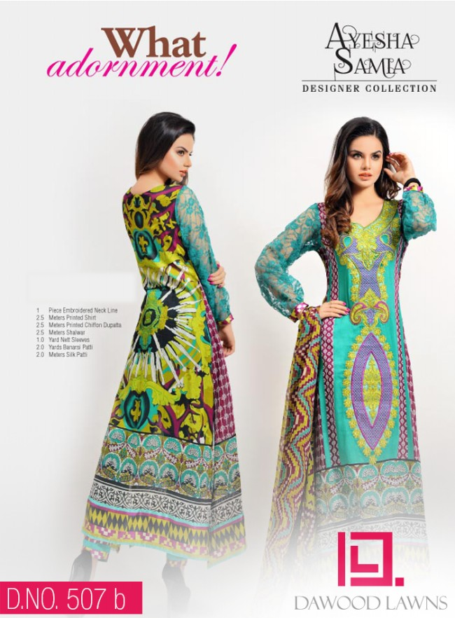 Womens-Girl-Wear-Beautiful-New-Fashion-Embroidered-Suits-by-Dawood-Lawn-Dress-10