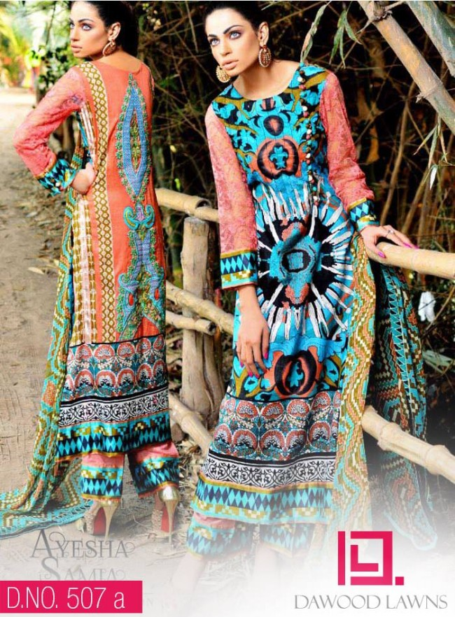 Womens-Girl-Wear-Beautiful-New-Fashion-Embroidered-Suits-by-Dawood-Lawn-Dress-14