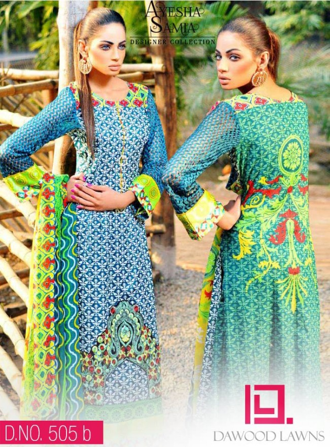 Womens-Girl-Wear-Beautiful-New-Fashion-Embroidered-Suits-by-Dawood-Lawn-Dress-15
