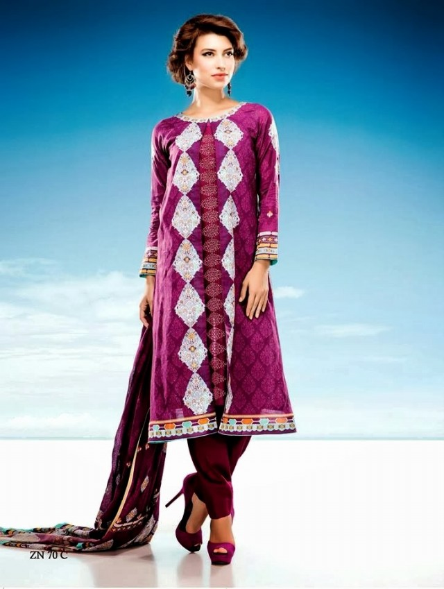 Womens-Girl-Wear-Beautiful-Zari-Net-Fancifull-New-Fashion-Lawn-Dress-by-Five-Star-Textile-1