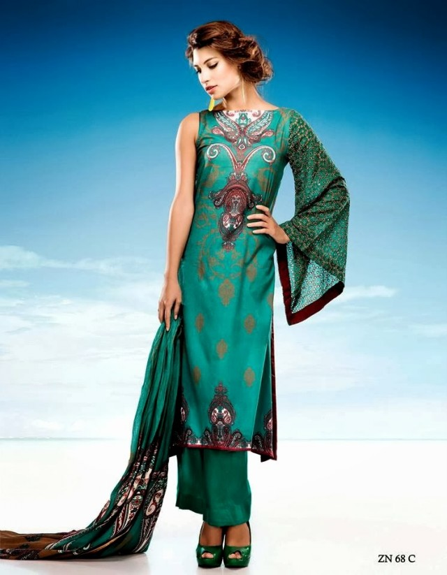Womens-Girl-Wear-Beautiful-Zari-Net-Fancifull-New-Fashion-Lawn-Dress-by-Five-Star-Textile-6