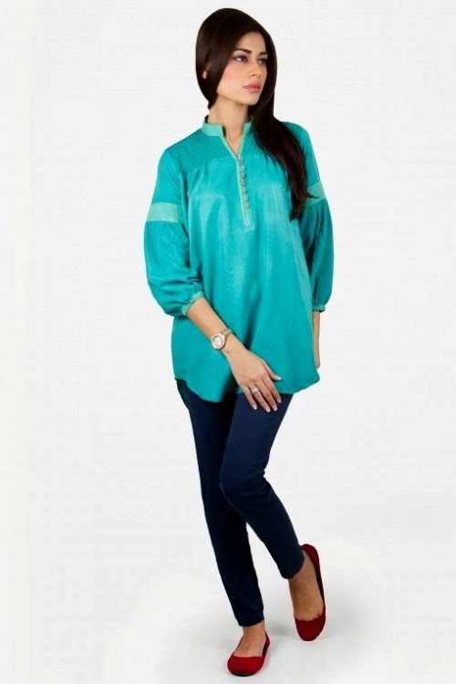 Girls-Wear-Beautiful-Pret-Western-Tops-Shorts-Kurta-Tights-Outfits-New-Fashion-Dress-By-Khaadi-10