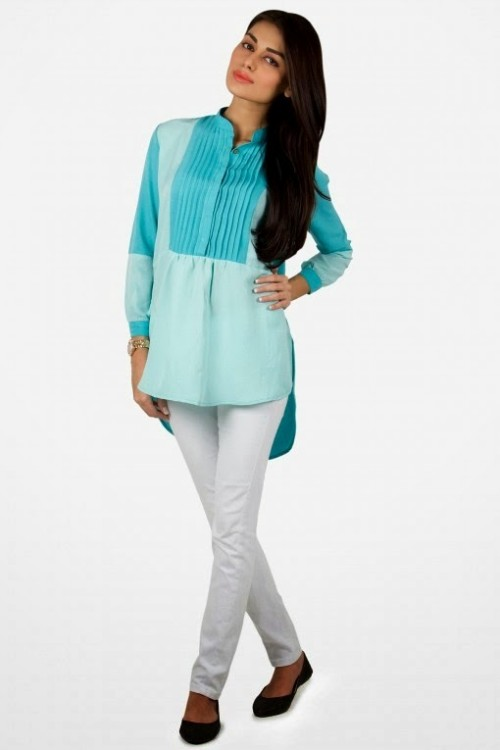Girls-Wear-Beautiful-Pret-Western-Tops-Shorts-Kurta-Tights-Outfits-New-Fashion-Dress-By-Khaadi-9